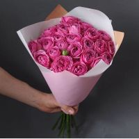 Евробукет с розами «Мисти бабблс»