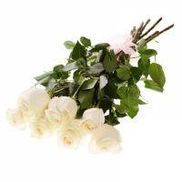Букет белых роз «Белла»