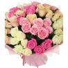 Разноцветный букет из 51 розы