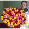 Весенний микс из 101 розы