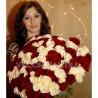 101 роза белая + красная