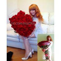 101 красная роза  120см