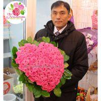 Букет-сердце из 101 розовой розы