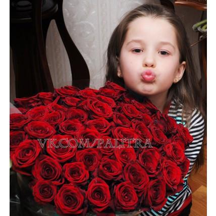 51 красная роза «Ред Наоми»