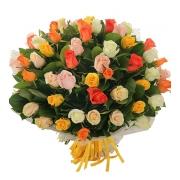 51 роза «Летний микс 2»