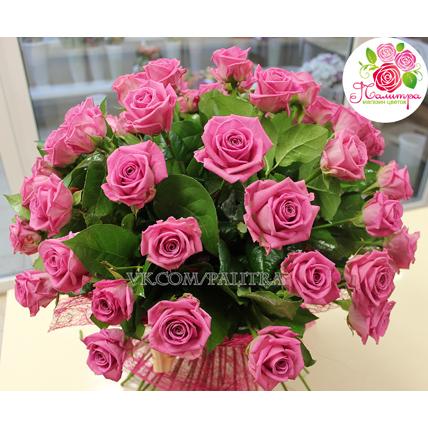 51 розовая роза  «Аква»