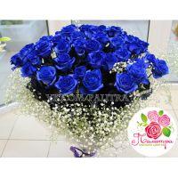 59 роз синего цвета