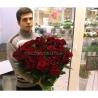 51 красная роза 120см