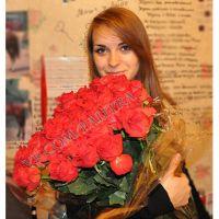 59 оранжевых роз «Вайлдкард»