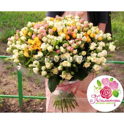 «Весенний микс» из 101 кустовой розы