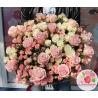 51 роза: нежно-розовая + кустовые микс