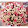 Мегамикс: 30 кустовых хризантем, 41 розовая роза
