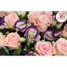 Букет из 50 лизиантусов и 51 розы