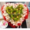 Сердце с орхидеями «Цимбидиум»