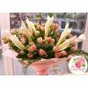Букет с кустовыми розами и каллами