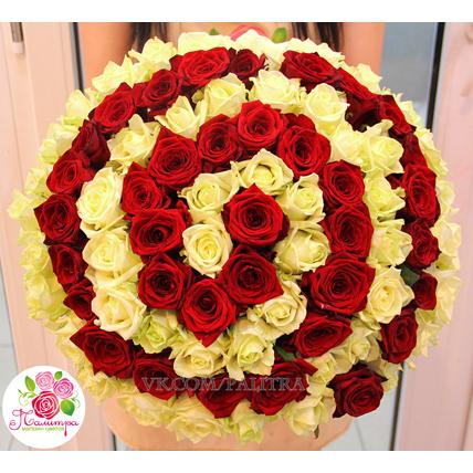 Эксклюзивный букет из  85 роз