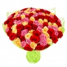 101 роза из трех сортов