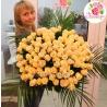 101 кремовая роза  «Талея» 80см