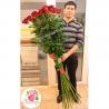 25 гигантских роз 150 см