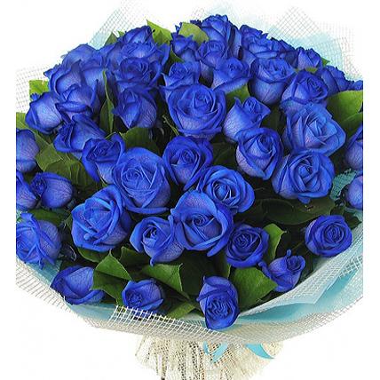 Букет из 39 синих роз