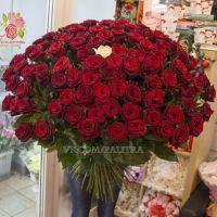 101 роза «Гран-при» 90см