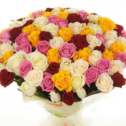 101 роза «4 сезона»