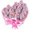 Сердечко с 15 киндер-сюрпризами розовое