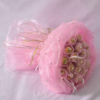 Букет из 19 конфет «Ферреро» розовый