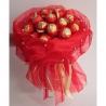 Букет из 15 конфет «Ферреро» красный