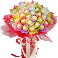 Радужный букет из 39 конфет «Ферреро»