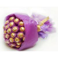 Букет из 21 конфеты «Ферреро» сиреневый