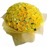 101 желтая роза «Илиос»