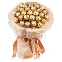 Букет из 39 конфет «Ферреро» золотистый