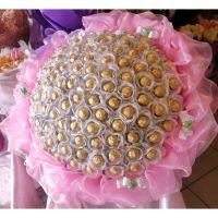 Премиум букет из 101 конфеты «Ферреро рошер»