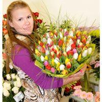 101 тюльпан МИКС с берграсом