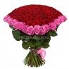 Букет в форме сердца из 101 розы