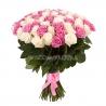 101 роза: розовая + белая